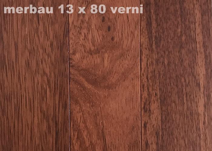 Parquet massif Merbau - 14 x 80 mm - verni mat - PROMO