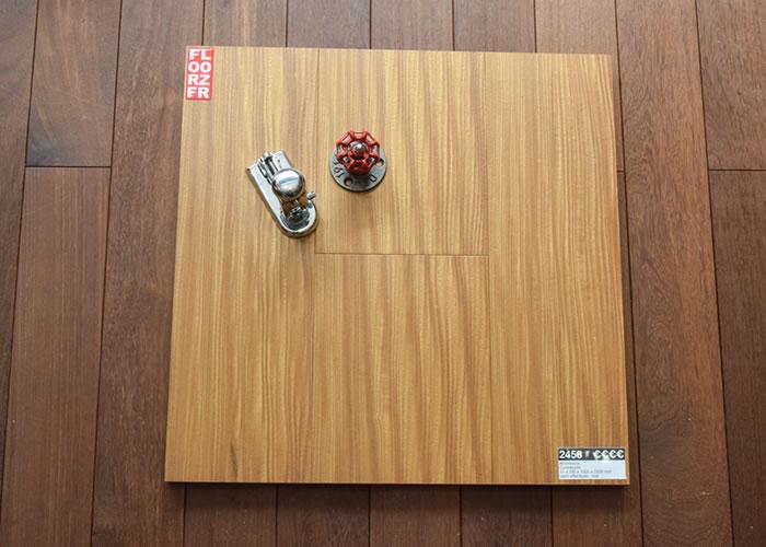 Parquet massif planchette Afrormosia Prestige - 15 x 75 x 500 mm - brut - Couleurs Homogènes