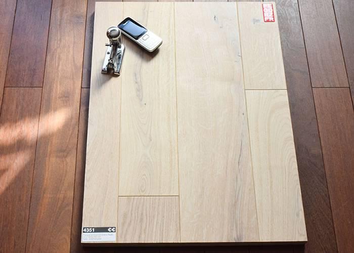 Parquet contrecollé Chêne Premier - 10 x 70 mm - verni blanc