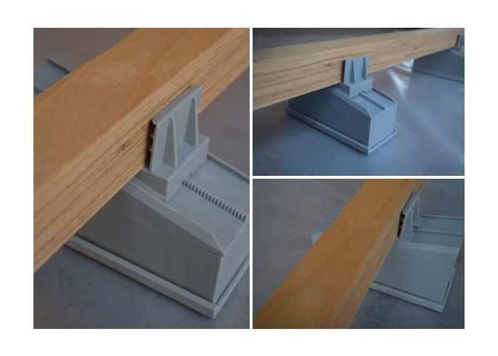 Lambourdes intérieures en contreplaqué et cales micrometriques - 39 x 40 x 2700 mm