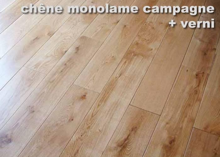 Parquet contrecollé Chêne Campagne - 13 x 180 mm - huilé ou verni