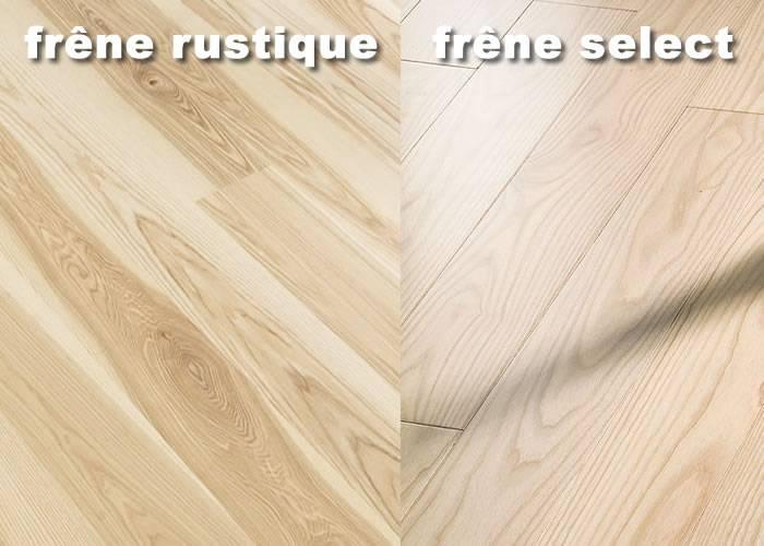 Parquet massif Frêne Premier - 13 x 110 mm - Brut - PROMO