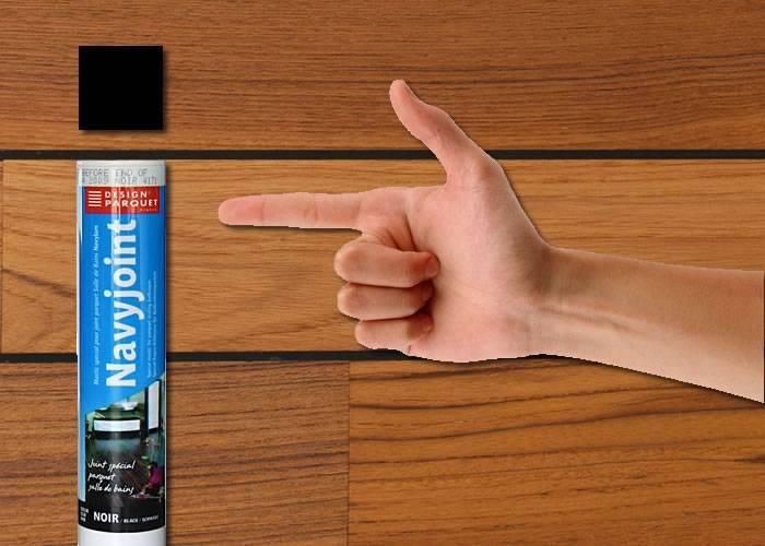 Joint Polymere noir 300 ml Sika - pour parquets pont bateau