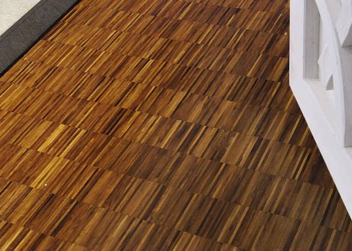 Parquet Industriel Iroko - 09 x 14 x 160 mm sur chants - Nancy - Promo
