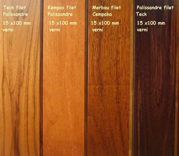 Parquet massif en teck nice avec un filet de bois en - Table en palissandre massif ...