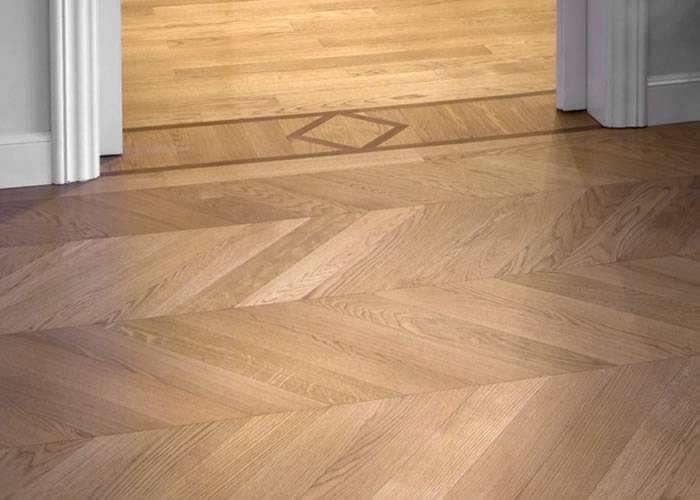 Parquet massif Chene Nature Point Hongrie - 14 x 90 x 700 mm - brut - Biarritz