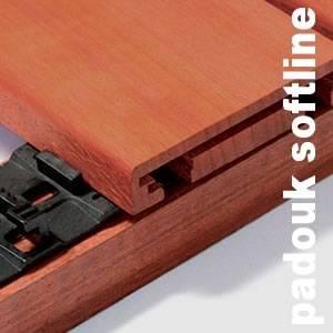Softline Techniclic pour Terrasses et bardages en Padouk