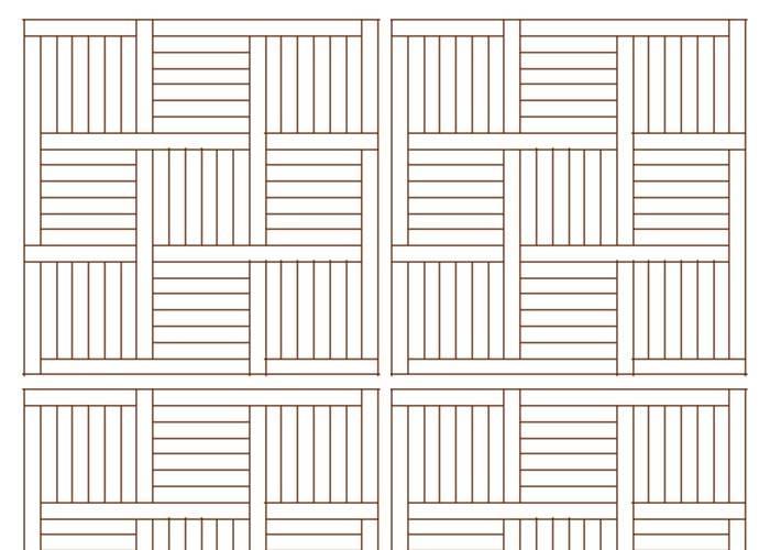 Panneaux et motifs en chêne Premier - 23 x 330 mm - Grand siècle