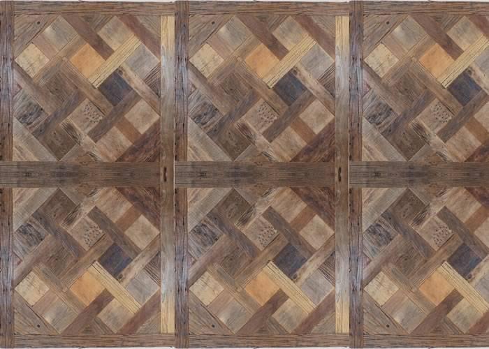 Panneaux et motifs en Orme de récupération - 1000 x 1000 mm - brut - Versailles