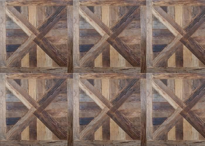 Panneaux et motifs en Orme - 1000 x 1000 mm - brut - Bruges