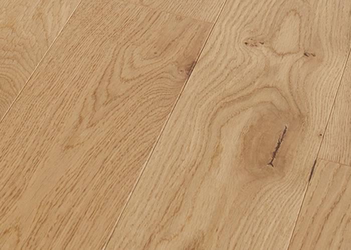 Parquet contrecollé Chêne Rustique - 10 x 70 mm - verni - PROMO