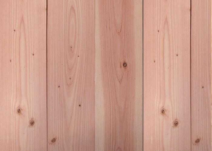 Lames de volets en Pin Red Cedar massif - 20 x 130 mm - Rainures languettes