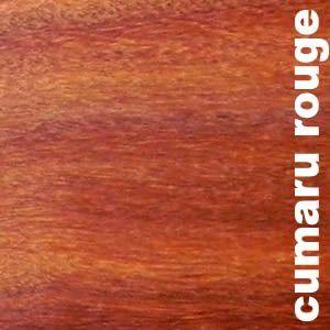 Parquet massif planchette Cumaru rouge Vermelho - 10 x 60 mm - brut