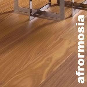 Parquet contrecollé Afrormosia - 14 x 195 mm - Verni / Huilé - Premium Velvet