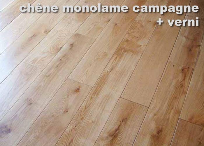 Parquet Contrecollé Chêne Rustique - 10 x 120 x 1200 mm - Verni - Fumé à coeur
