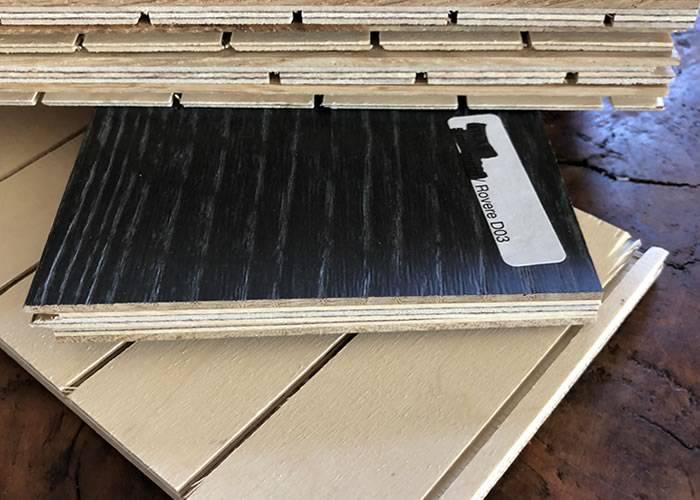Parquet contrecollé chêne Premier - 5,5 x 130 / 140 mm - Verni