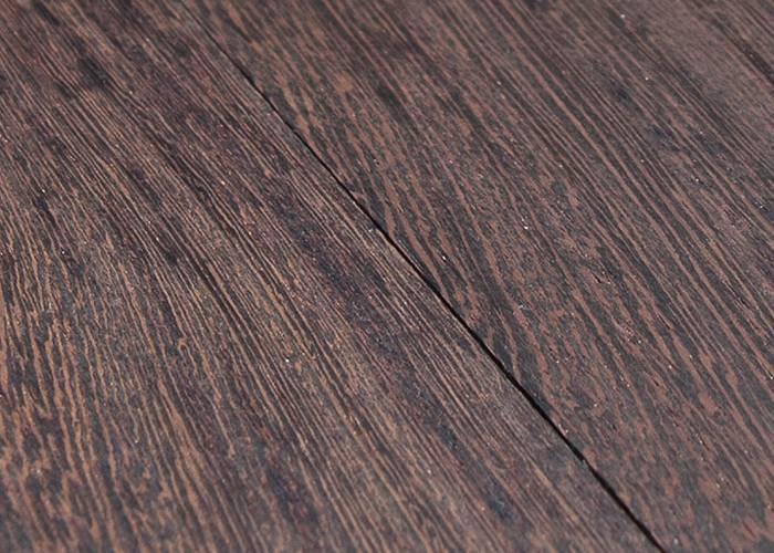 Parquet  massif planchette Wengé - 10 x 30 mm - brut - Bordeaux