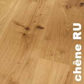 Parquet contrecollé Chêne Rustique sur HDF - 10 x 150 mm - Brossé - Huilé - PROMO