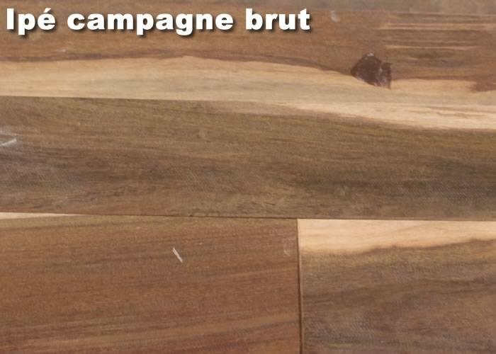Parquet massif Ipe Campagne - 14 x 115 mm - brut - Boulogne - PROMO