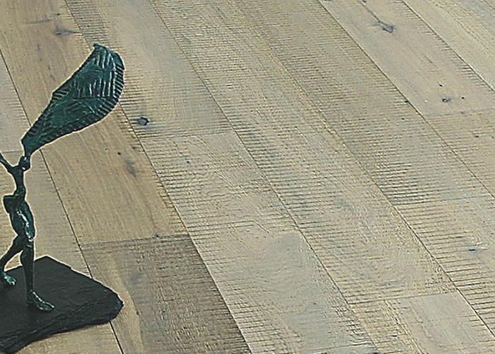 Parquet Contrecollé Chene Rustique/Campagne - 16 x 180 mm - huilé extra blanc - brossé