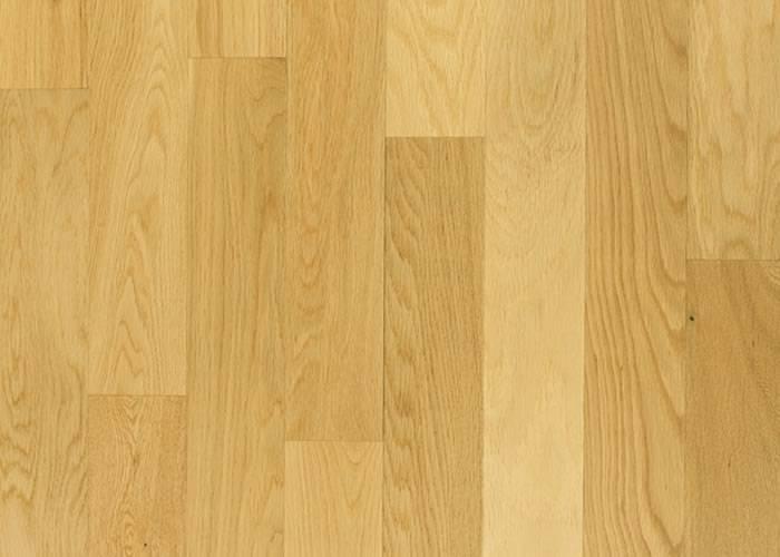 Parquet contrecollé Chêne Premier - 11 x 90 x 1000 mm - verni - brossé