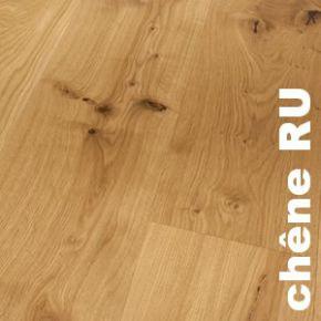 Parquet contrecollé Chêne Rustique - 10 x 150 mm Brossé huilé Blanc