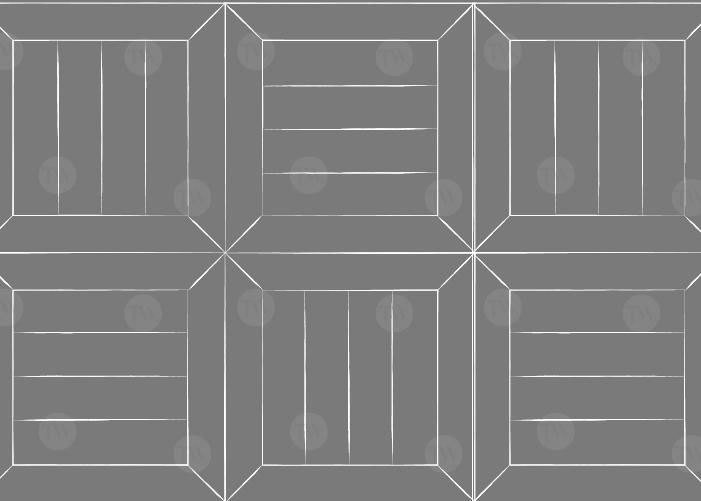 Parquet industriel Chêne mosaïque - 20 x 160 x 640 mm - vieilli - patiné - huilé - Tessera