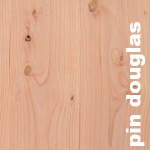 Parquet massif Pin Oregon / Douglas - 25 x 135 mm - Brut
