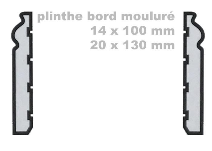 Plinthes Chêne Rustique - 20 x 60 mm - bord rond - Double Fumé - brut