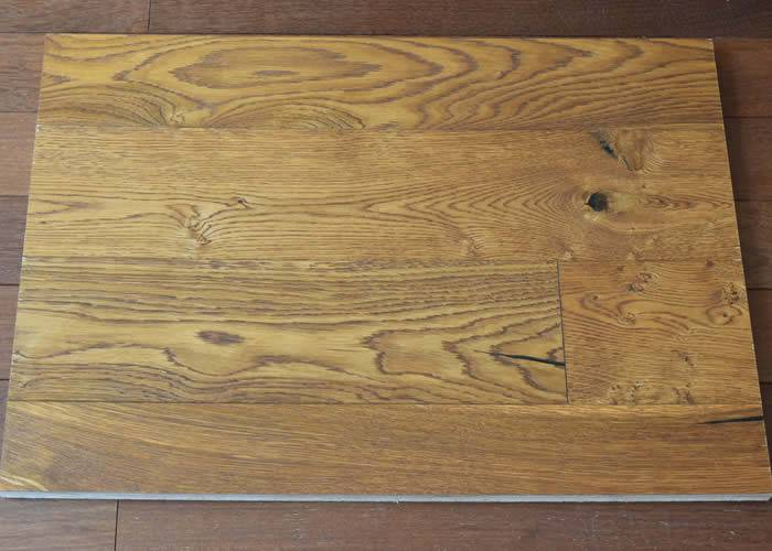 Parquet contrecollé Chêne Rustique - 14 x 180/190 x 1900 mm - huilé UV