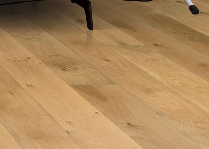 Parquet massif Chêne Rustique - 20 x 180 mm - Verni mat