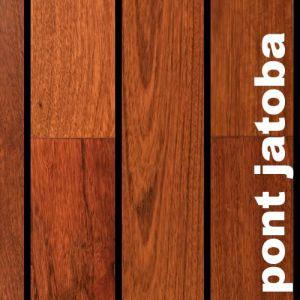 Parquet Pont de Bateau Jatoba - 14 x 90 mm - Brut