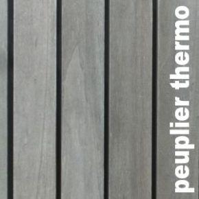 Terrasse - Lames Parquet massif Peuplier - 20 x 135 mm - Brut - Rétifié