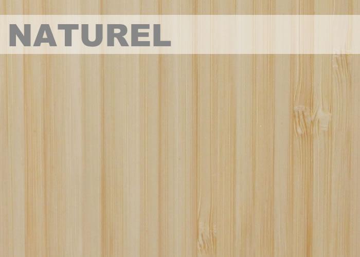 Panneau massif Bambou - 40 x 1220 x 2440 mm - Naturel - Vertical