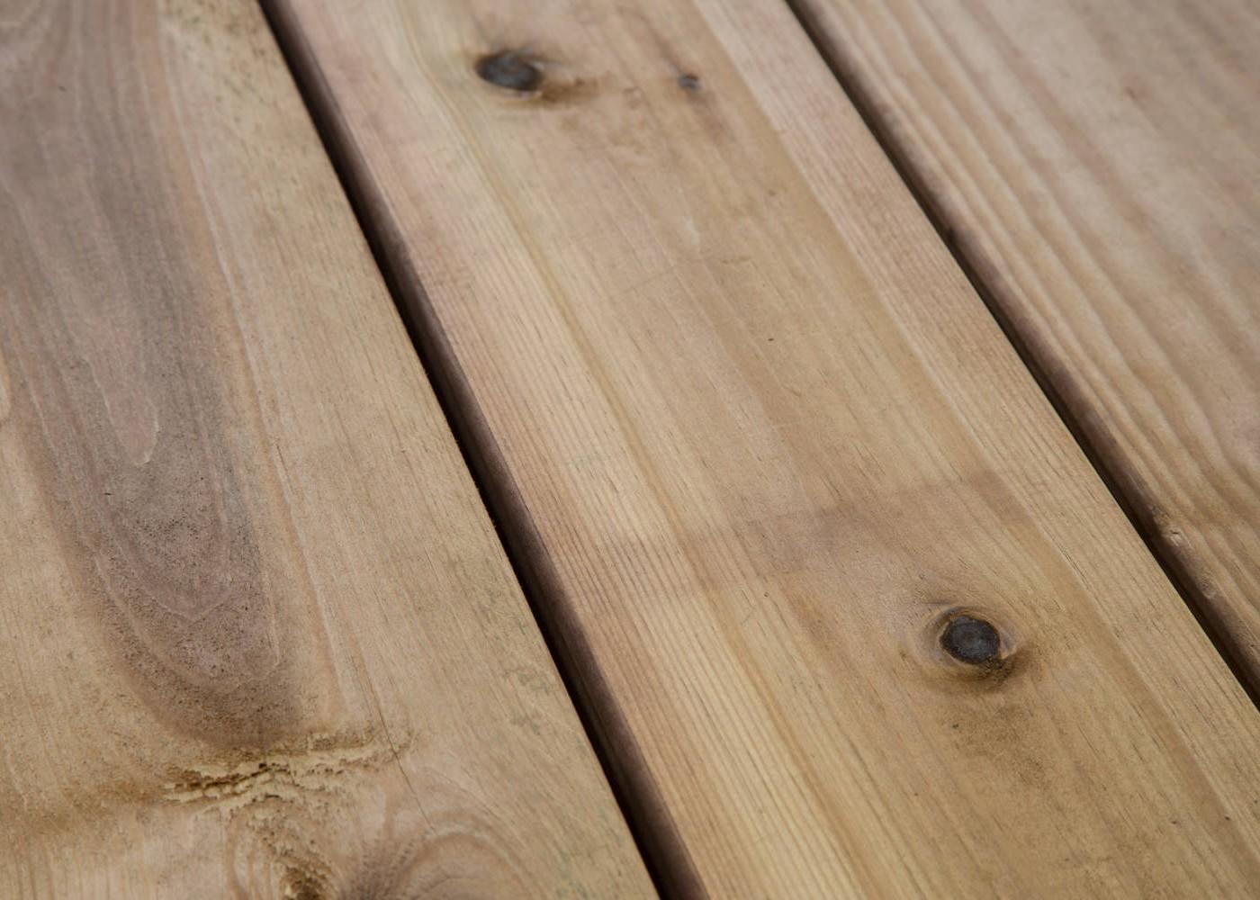 Traitement Terrasse Pin Autoclave lame de terrasse pin traité marron 27 x 145 mm - 2 faces lisses