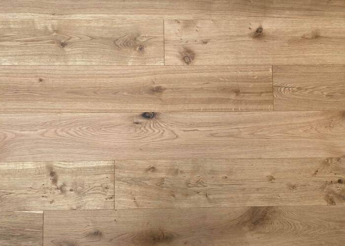 Parquet Contrecollé Chêne Rustique - 15 x 220 x 2200 mm - Brossé 3D - Huilé UV