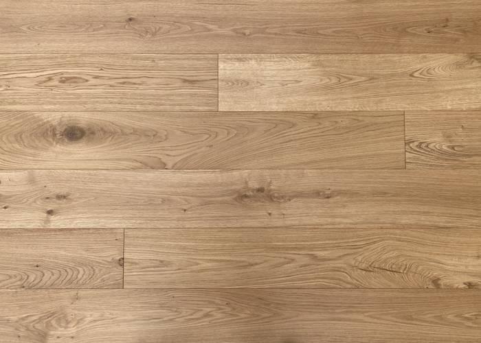 Parquet Contrecollé Chêne Rustique - 14 x 190 x 1900 mm - Brossé - Verni mat