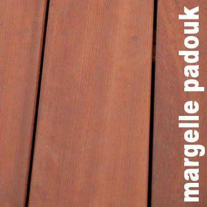 Terrasse - Margelle en padouk massif - 40 x 170 x 4550 mm