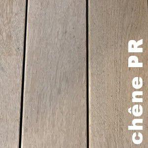 Terrasse - Lames parquet massif Chêne PLAINOAK - 28 x 118 mm - Lamellé Collé