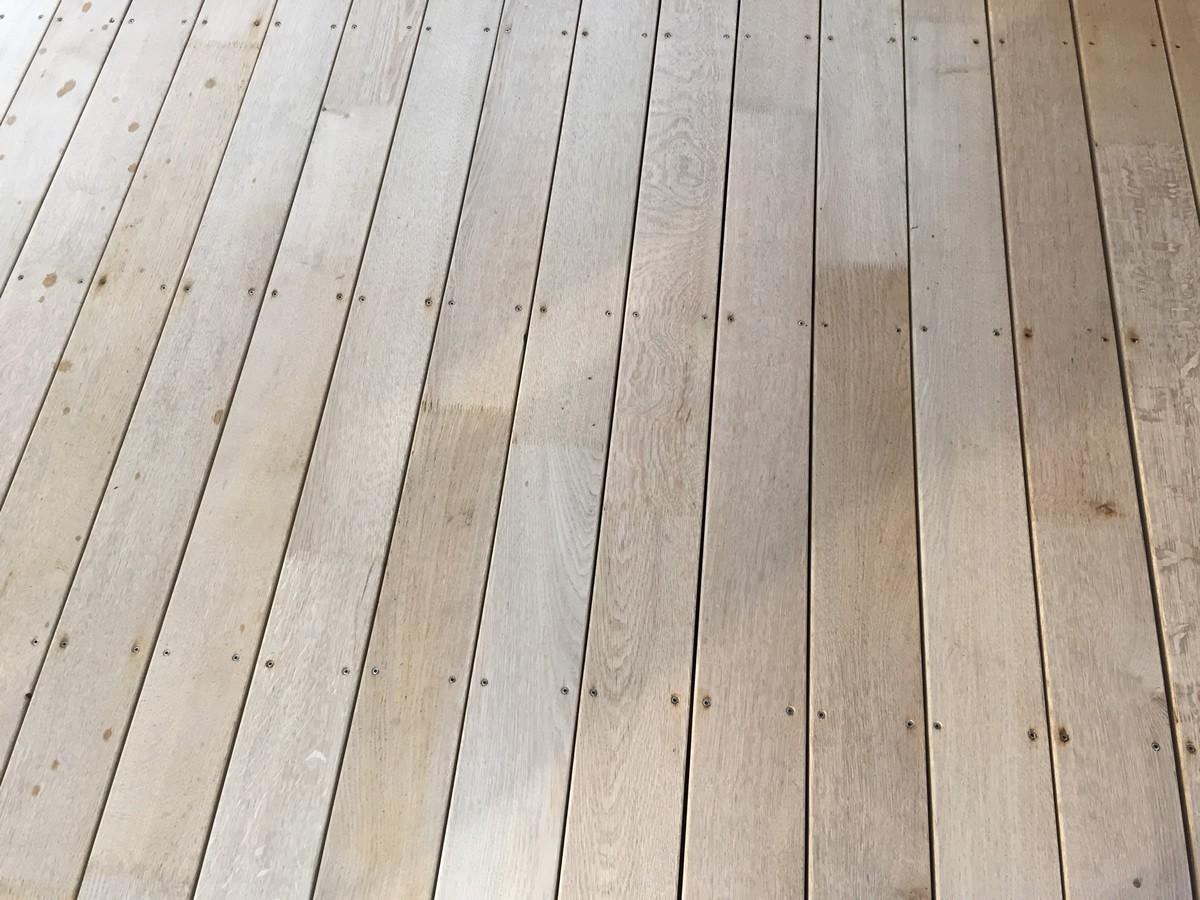 Terrasse - Lames parquet massif Chêne PLAINOAK - 42 x 118/148 mm - Lamellé Collé