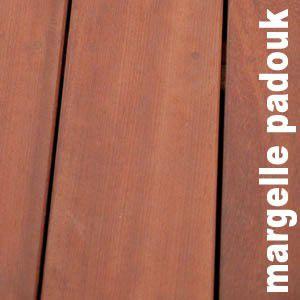 Terrasse - Margelle en padouk massif - 27 x 240 x 2350 - LOT DE 10