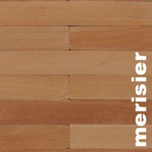 Parquet Industriel mosaique coupe pierre en Merisier - 10 mm