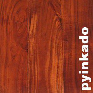 Parquet massif Pyinkado - 14 x 90 mm - brut