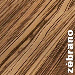 Parquet contrecollé Zebrano - verni 20 x 180 mm AB