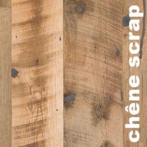 Parquet chêne scrapped Antique - 20 x 200 mm - Huile Cire