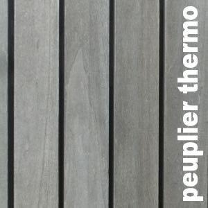 Terrasse - Lames Parquet massif Peuplier - 30 x 135 mm - Brut - Rétifié