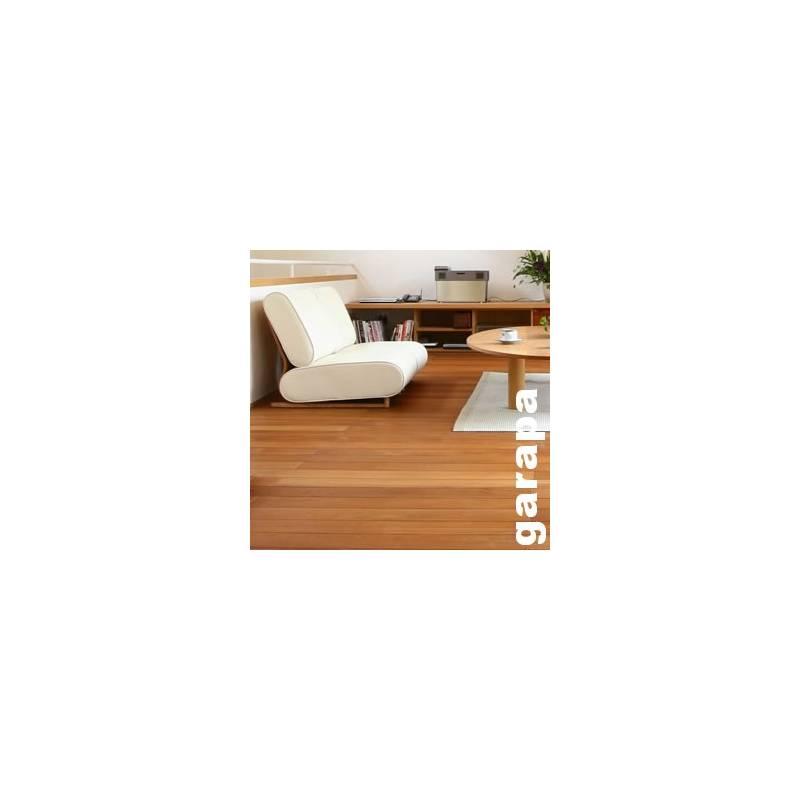 parquet massif garapa 19 x 100 mm verni promo premier choix. Black Bedroom Furniture Sets. Home Design Ideas