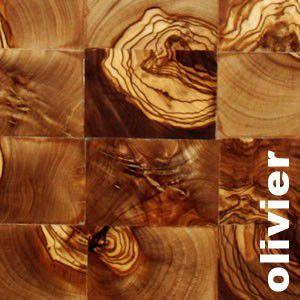Parquet olivier en bois de bout - Brut