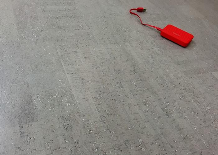 Revêtement de sol en Liège Gris - 10,5 x 295 x 905 mm - Verni