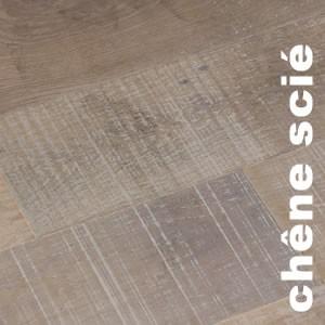 Parquet contrecollé Chêne Rustique Toundra - 14 x 125 mm - Scié - Brossé - Verni Mat